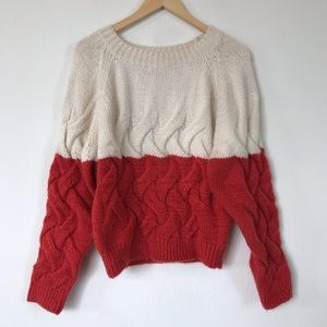 The Korner Two Tone Sweater M